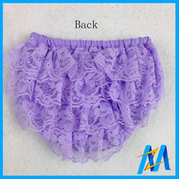 Wholesale HOT SALE Baby Lace Bloomers Ruffled Panties Girls Diaper Covers Bloomers Baby Ruffle Panties Shorts