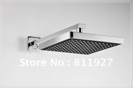 Wholesale Fast High bathroom concealed rainfall square shower set faucet bath tap mixer chuveir low price promotion lamp