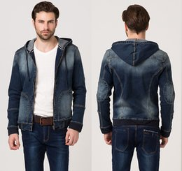 Discount Men S Denim Hoodie Jacket | 2017 Men S Denim Hoodie ...