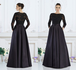 Wholesale Long Sleeves Mother Of The Bride Dresses For Wedding Janique Long Sleeve Lace Mother s Groom Gowns Beads Satin Evening Jacket Dress