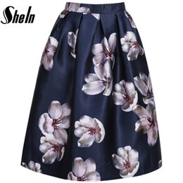 High Waisted Floral Pleated Skirt Online | High Waisted Floral ...