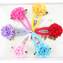 Wholesale Baby girls flower hairpins hair clips Girls s hair Accessories ribbon hairclips girl hair pin girl s flower barrette DE6556