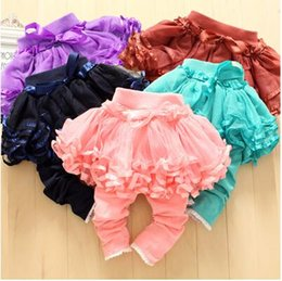 Wholesale 2016 Children Clothes Baby Girl s Pants Kids Baby Girl s Culottes Baby Lace Net Yarn Leggings The New Girls Culottes Casual Pants