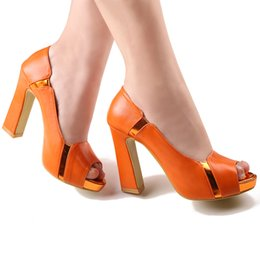Wholesale Hot Sell Luxury Lady Shoes Girl Nightclub Prom Shoes inch High heeled Bride Wedding Shoes DY2049 Orange