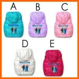 Wholesale Cartoon Vest Children s no sleeveless horse vest with hood girl clothes winter coat jacket tutu dress