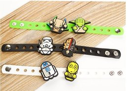 Wholesale New styles Star Wars Silicone wristbands Toy Dolls Bracelet Adults and children can adjust Hand catenary C184