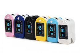 Wholesale 2014 NEW Fingertip Pulse Oximeter SPO2 Monitor OLED Display SIX Colors CE FDA