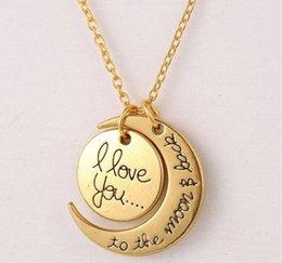 Te Quiero Para la Luna y Volver Collares para los regalos de la joyería mujeres boda Accesorios corchete de la langosta oro pendiente del collar de plata de Navidad
