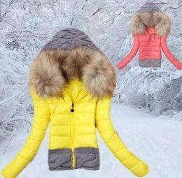 Wholesale winter jacket women fashion hoody fur collar down coat casual plus size parka manteau casaco feminino inverno jaqueta K002