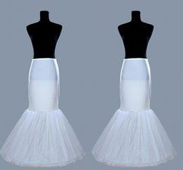 Wholesale 2016 nueva boda nupcial barato de la falda del vestido de la pesca Tamaño de la bola de la enagua Plus Underdress blanco trompeta de la sirena de la crinolina enagua deslizamiento HY00068