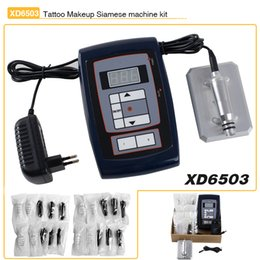 Wholesale Newest Permanent Makeup Machine Complete Kit Rotary Tattoo Machine Gun Pedal Power Controller Needles Cosmetic Set