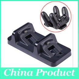Soporte de estación de muelle de carga USB Dual inalámbrico para playstation 4 PS4 Game Charger cargador de negro para dualshock 4 manija 010205