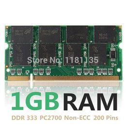 Nueva 1GB DDR333 PC2700 No ECC CL2.5 ordenador portátil PC DIMM de memoria RAM 200 prendedores