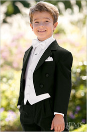Wholesale Handsome Boys Formal Occasion Tailcoat Boy Birthday Party Suits Prom Business Suits Boy Flower Girl Dress Jacket Pants Vest Bow Tie NO