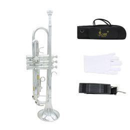 Труба Bb B Flat Brass Изысканный с мундштуком перчатки Популярные Музыкальный инструмент Новое прибытие I525
