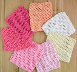 Wholesale 39 Color Baby Gir inch crochet headhand tutu Tube Tops Chest Wrap Wide Crochet headbands new Candy color clothes B201