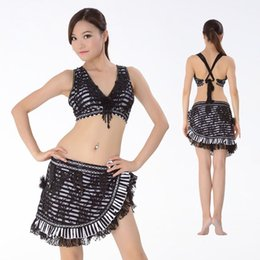 Wholesale Tribal Belly Dance Costume Sexy Lace and Stripe Plus Size Tribal Costume for Belly Dancing