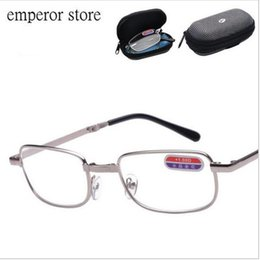 folding reading glasses brand designer with original box outdoor vintage fashion convenience old people degree eyeglasses frame cheap