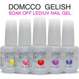 Wholesale Choose Color base coat top coat DOMCCO Gelish Long lasting soak off LED UV gel nail polish uv nail gel lacquer varnish