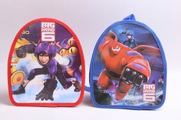 Wholesale Children s Cartoon Big hero portable shoulder bag small backpack children s schoolbag C001