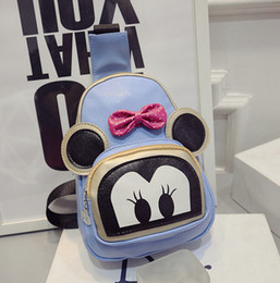 Wholesale hot Chest high grade package Cute cartoon backpack Female money  Mimi can shoulders single shoulder