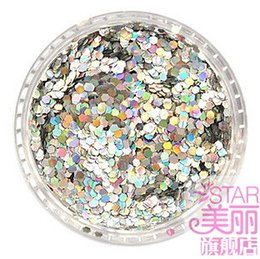 Wholesale DIY mobile beauty nail stickers nail jewelry color gradient sequined glitter nail small hexagonal