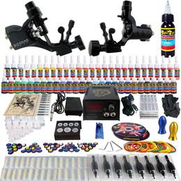Wholesale Complete Tattoo Kits Pro Rotary Tattoo Machine Guns Inks Power Supply Needle Grips Taty Set TK255