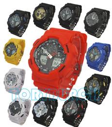 Relojes de los deportes de los hombres del relogio G100 5pcs / lot, reloj del cronógrafo del LED, reloj militar, reloj digital, buen regalo para el muchacho de los hombres, dropship