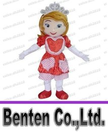 Wholesale Sofia the First in dress mascot costume classic cartoon halloween outfit dress Adult Size for Kids LLFA4380F