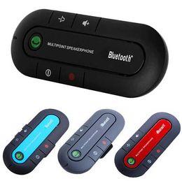 2016 Nuevo llega Vehículo inalámbrica multipunto inalámbrico de manos libres con altavoz del teléfono celular Bluetooth manos libres Car Kit v3.0 ENVÍO GRATIS