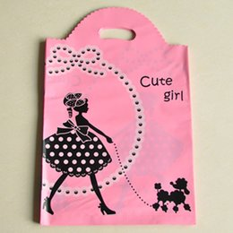 Discount Hot Pink Plastic Shopping Bags | 2017 Hot Pink Plastic ...