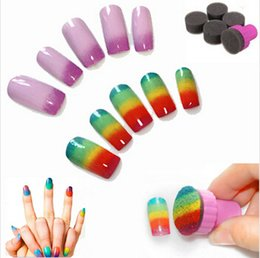 Wholesale 1set Hot Sell Miraculous Nail Art Sponge Stamp Stamping Polish Template Transfer Manicure DIY Design Kit Deco NA585