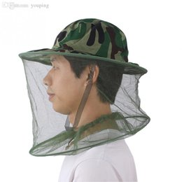 Amazon.com : Tobey Camouflage Mosquito Hat with Head Net Mesh Bug ...