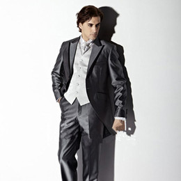 Discount Mens Grey Suits For Sale   2017 Mens Grey Suits For Sale ...