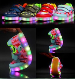 new brand LED of replaceable battery size boys girls casual lamp luminous sneakers child casual shoes online