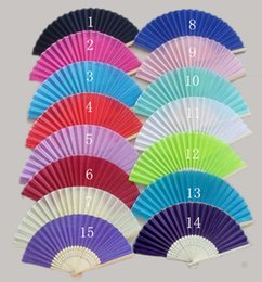 Wholesale High Quality Wedding Silk fan with Bamboo ribs Hand Silk Fan Chinese Craft fabric fan