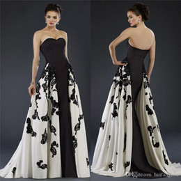 Wholesale 2016 White Black Janique Evening Gowns With Overskirts Sweetheart Neckline Mother Of The Bride Dresses Applique Cocktail Party Dress