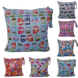 Wholesale Lavable tissu réutilisable Nappy Wet Bag imperméable Nage Sport voyage sac de transport X29cm sac à couches bébé mouillé sac à couches