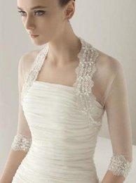 2015 Изысканный Люкс Обертывания Аппликация из бисера Шаль Jewel 1/2 Длинные рукава High End White Wedding Jacket