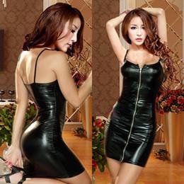 Wholesale M L XL XXL Plus Size Women Hot Sexy Latex Wet look Bodycon Dress PVC Sexy Lingerie Costume Adult Night Clubwear Babydolls