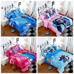 Wholesale Froze Bedding set Hot selling D printed Cotton Children Bed Linen for Girls Boys Kids Single double Bed children gifts