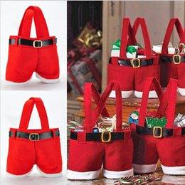 Wholesale New Creative Christmas candy bag Christmas bag Christmas decoration supplies Santa pants bag for candy Gift LJJD222