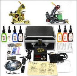 Wholesale Cheap Tattoo Machines Complete Tattoo Kit Machine Guns kit tattoo with Ink tattoo kit Foot Pedal Needles