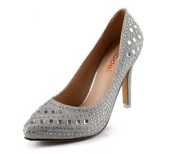Wholesale 2015 Prom Heels bling Wedding Shoes Women High Heels Crystal Silver Rhinestone Platform Women Pumps Sexy red gold black Ladies Shoes