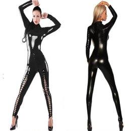 Wholesale Catsuit XL Plus Size Jumpsuit New Arrival Faux Leather Bodysuit Jumpsuit Sexy Latex
