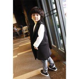 Wholesale 2015 Baby boy Super cool Waistcoat Children Clothes Long Thickenin Cotton Vests Fashion Winter Sleeveless Coat Children Outwear kids clothes