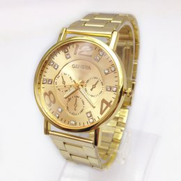 men watches gold color online rose gold color men watches for geneva men casual fashion wristwatch diamond stainless steel quartz wrist watch gold color watches dhl online