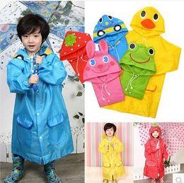 Wholesale Cute Animal Cartoon Raincoat Kids Rain Coat Boy s Girls Rain cape Waterproof Coats children s Poncho raincoats Design Gift Free DHL