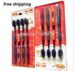 Wholesale 4pcs Bamboo Charcoal Toothbrush Odontologia Bamboo Tooth brush of Dental Care for Soft Brush
