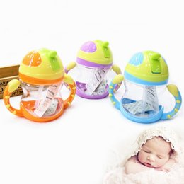 Wholesale Popular Sale Baby Kids Handle Straw Water Bottle ml Cute Water Juice Training Bottle For Kids Cup Children Gift JD0049 kevinstyle